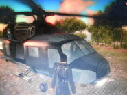 Kane piloting Agency HH-22 Savior (Guadalicano Choo Choo)