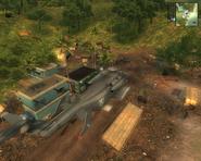 JC1 army snipers at a town in Provincia de Castillo