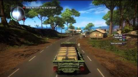 Just Cause 2 - Faction Mission - Checking the Menu