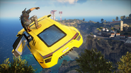 Just Cause 3 yellow sportscar