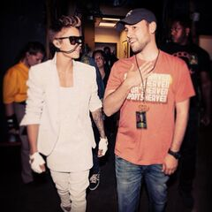 Backstage on the Believe Tour, Denver