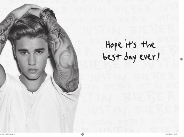 image  personalised justin bieber birthday photo card inside, Birthday card