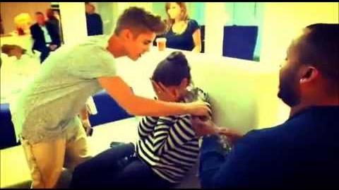 Justin Bieber singing 'Your Body is a Wonderland' to Allison Kaye