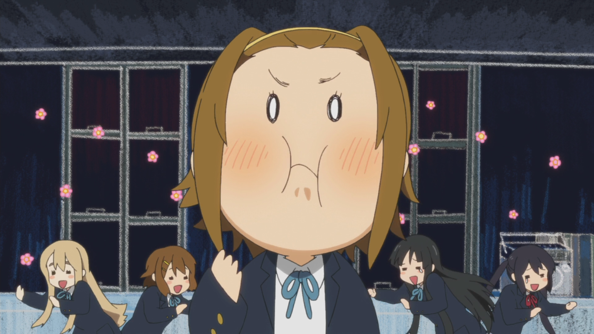 but Yui seems to be happy   K On Yui Happy