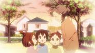 Tomi looking after Yui, Ui and Nodoka