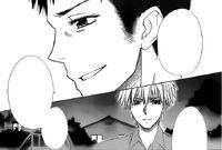 Sakuya speaking to Takumi about his friend