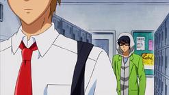 Kanou confronting Takumi