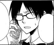 Shizuko talking on the phone manga