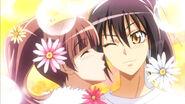 Sakura kisses Misaki