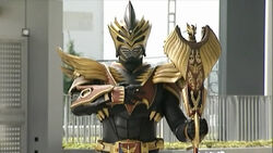 Kamen Rider Odin with Gold Visor