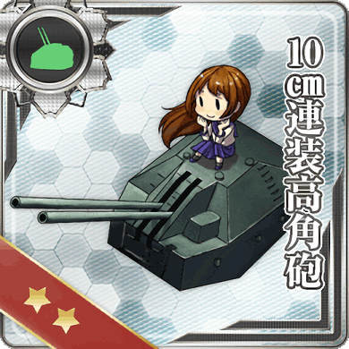 10cm Twin High-angle Gun Mount 003 Card