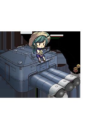 61cm Triple Torpedo Mount 013 Full