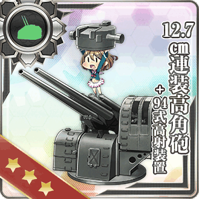 12.7cm High-angle Gun + Anti-Aircraft Fire Director 130 Card