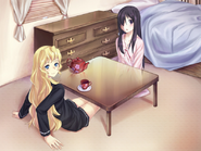 Hanako and Lilly in Lilly's room