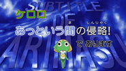 Keroro Invasion in the blink of an eye Title card