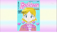Satsuki with blonde hair alike girl in fashion magazine