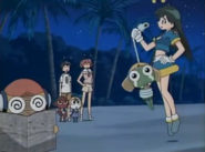 Poyon persecution Keroro in Episode 224
