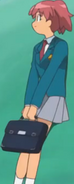 Natsumi with her briefcase