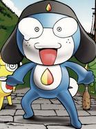 Taruru on a manga cover