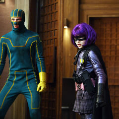 Kick-Ass and Hit-Girl confront Frank D'Amico and Red Mist.