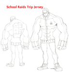 Ira Gamagōri body (School Raids Trip Jersey sketch)