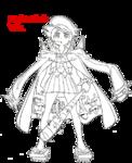 Mako Mankanshoku body (Fight Club uniform sketch)