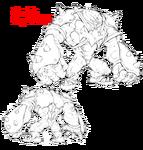 Ira Gamagōri body (Shackle Regalia MKII sketch)