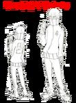 Hōka Inumuta body (School Raids Trip Jersey sketch)