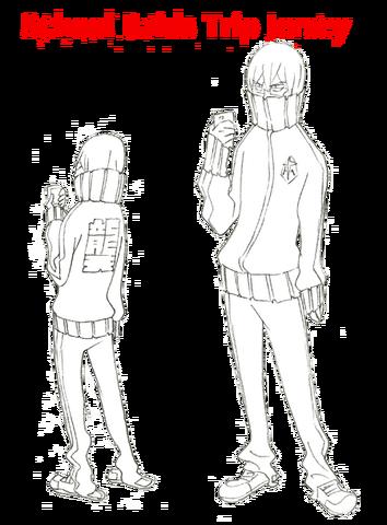 File:Hōka Inumuta body (School Raids Trip Jersey sketch).png