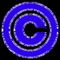 Blue copyright symbol.png