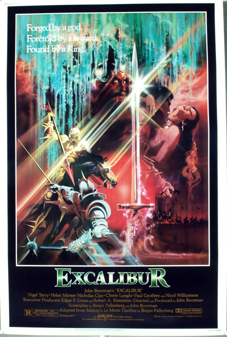 Excalibur 1981 Film Quondam Et Futurus Fandom