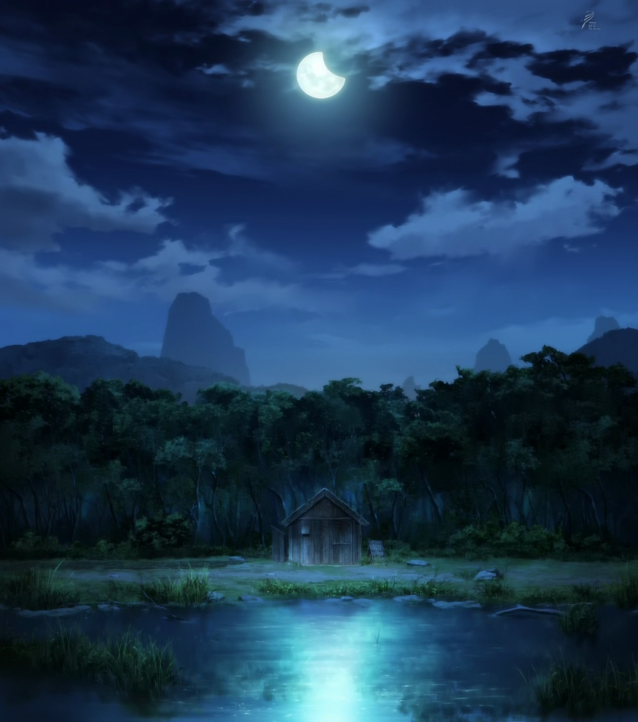 image shins houses view at night anime s1png