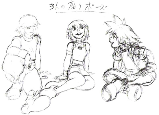 File:Kairi, Riku and Sora- Concept (Art) KH.png