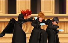 Axel, Roxas, Xion (Cutscene) KHD
