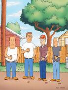 Bill, Hank, Dale, Boomhauer