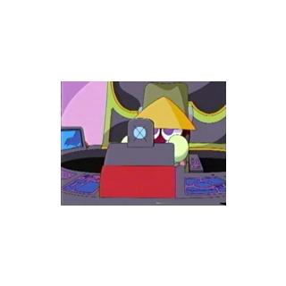 Sasuke en su robot en el Anime