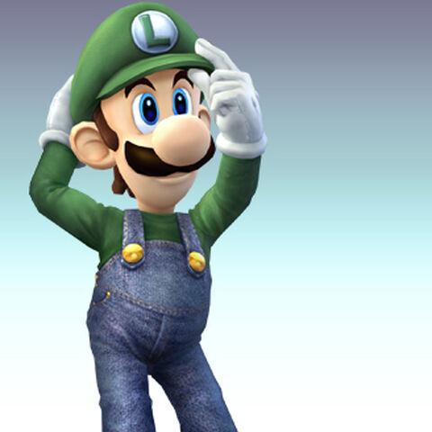 Arte de Luigi en Super Smash Bros. Brawl