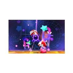 Dark Kirby siendo derrotado en <a href=