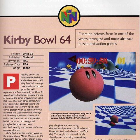 Avances del juego para la N64.