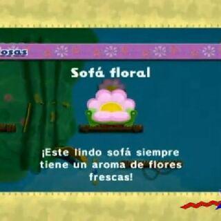 Sofá floral.