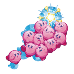 Artwork de los 10 Kirbys.