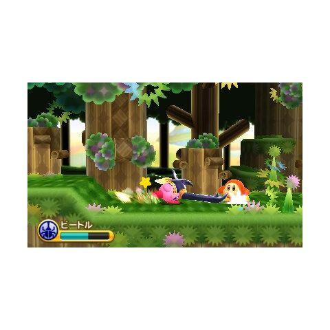 Kirby escarabajo atacando a waddle dee