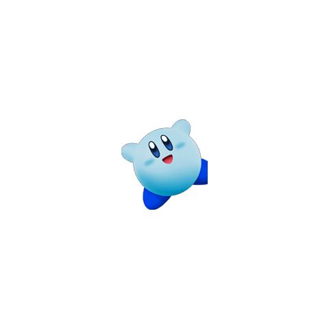 Kirby Azul como se puede ver en <a href=