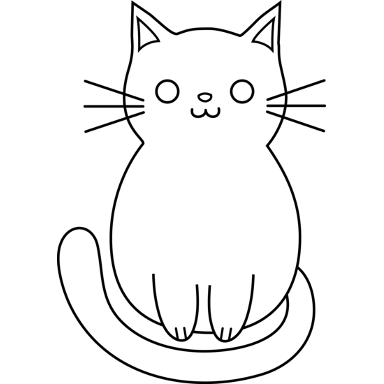 Image - Cat Outline Black 384x384.png | KittyCats ...