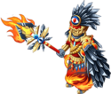Feathered embergear