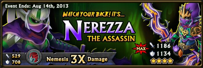 Nerezza the Assassin Banner