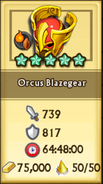 Orcus Blazegear Crafting Stats