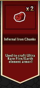 Infernal Iron Chunk from Enchanted Chest