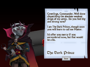 First Letter from the Dark Prince