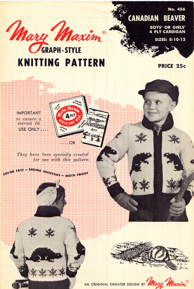 Mary Maxim No. 456 Graph Style Knitting Pattern Canadian ...